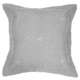 Housse de coussin +encart 60 x 60 cm microfibre unie florencia Gris
