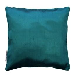 Housse de coussin +encart 60 x 60 cm shantung uni shana Bleu