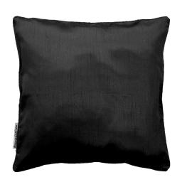 Housse de coussin +encart 60 x 60 cm shantung uni shana Noir