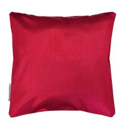 Housse de coussin +encart 60 x 60 cm shantung uni shana Rouge