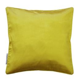 Housse de coussin +encart 60 x 60 cm shantung uni shana Vert