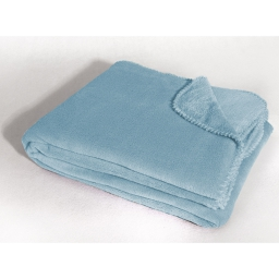 Jete de fauteuil 125 x 150 cm coral uni louna Bleu