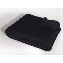 Jete de fauteuil 125 x 150 cm coral uni louna Noir