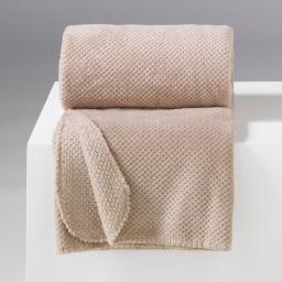 Jete de fauteuil 125 x 150 cm flanelle jacquard caou Lin