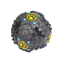 jouet pour chien distributeur de croquettes en vinyl ø10cm coloris noir