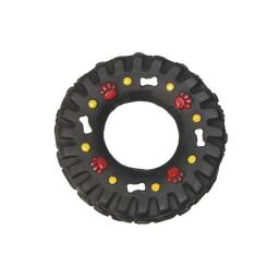 jouet pour chien pneu en vinyl ø13cm coloris noir