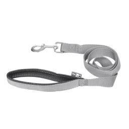 laisse couleur poignee confort 25mm*120cm gris