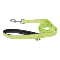 laisse couleur poignee confort 25mm*120cm vert anis