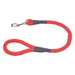 laisse forte ronde nylon 60cm*largeur 16mm - rouge
