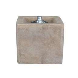 lampe a huile terracotta carré 21*h20cm