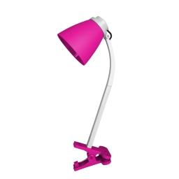 lampe de bureau clip plastique l.20*l.9.6*h.36cm e14 rose