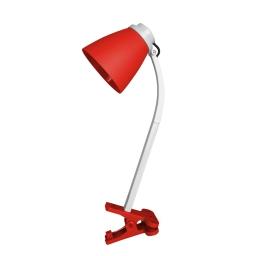 lampe de bureau clip plastique l.20*l.9.6*h.36cm e14 rouge