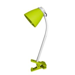 lampe de bureau clip plastique l.20*l.9.6*h.36cm e14 vert