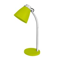 lampe de bureau pied plastique l.19*l.10.6*h.32cm e14 vert