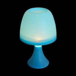 lampe de table en plastique a piles ø16*h25cm bleu turquoise