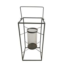 lanterne metal 18*18*h36cm gris