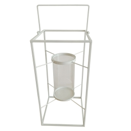 lanterne metal 24*24*h48cm blanc