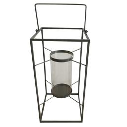 lanterne metal 24*24*h48cm gris