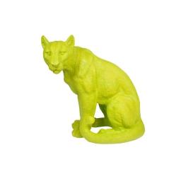 léopard en polyresine vert anis h.41*l.22.5*p.40cm