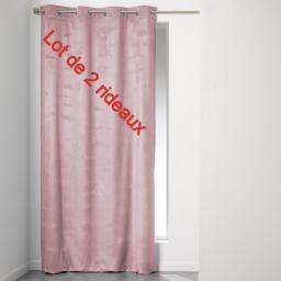 Lot de 2 rideaux a oeillets 140 x 240 cm velours uni romantic Dragee