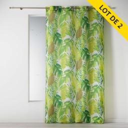 lot de 2 rideaux a oeillets 140 x 260 polyester imprime akena