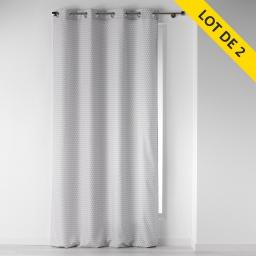 lot de 2 rideaux a oeillets 140 x 260 polyester imprime distingo