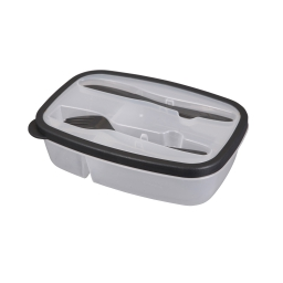 Lunch box +compartiments couverts 1.45l 23 x 15 x 6 cm Anthracite