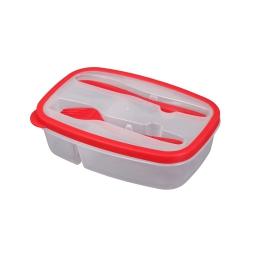 Lunch box +compartiments couverts 1.45l 23 x 15 x 6 cm Rouge
