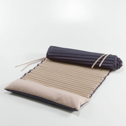 Matelas roule 60 x 170 cm polyester bicolore garden Taupe/Anthracite