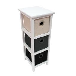 meuble 3 tiroirs 22 x 26 x ht 61 cm mdf+jute mineral