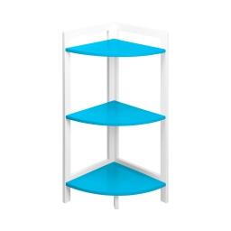Meuble d'angle 3 etageres en mdf - 30*30*h70cm -  - douceur d'interieur Bleu