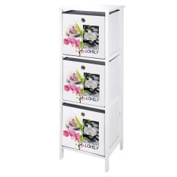 meuble mdf 3 panieres intissé 36*32*h109cm lovely