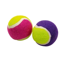 mini balles tennis pour chat en caoutchouc x2 ø4cm