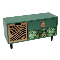 mini meuble 3 tiroirs 30 x 11 x 16 cm mdf tropical green