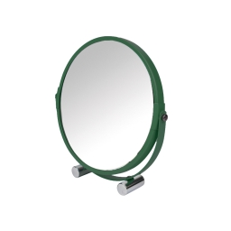 Miroir a poser double face (0) 17 cm metal vitamine sdb Kaki