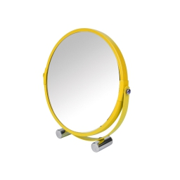Miroir a poser double face (0) 17 cm metal vitamine sdb Miel