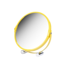 miroir a poser grossissant x1/x3 metal vitamine jaune