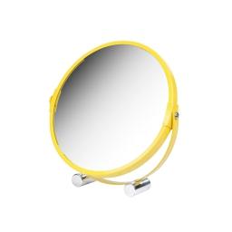 miroir a poser grossissant x1/x3 metal vitamine jaune