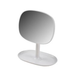 Miroir design plastique avec plateau bijoux vitamine Blanc