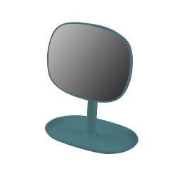 Miroir design plastique avec plateau bijoux vitamine bleu emeraude Bleu/emeraude