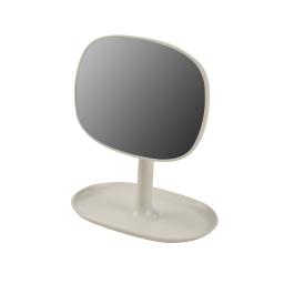 Miroir design plastique avec plateau bijoux vitamine Naturel