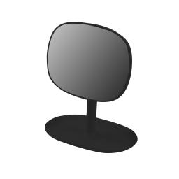 Miroir design plastique avec plateau bijoux vitamine Noir