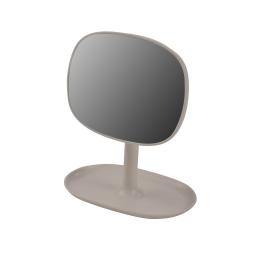 Miroir design plastique avec plateau bijoux vitamine Taupe