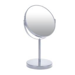 miroir sur pied grossissant x1/x2 metal vitamine gris clair