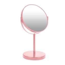 miroir sur pied grossissant x1/x2 metal vitamine rose poudré