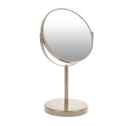 miroir sur pied grossissant x1/x2 metal vitamine taupe