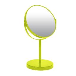 miroir sur pied grossissant x1/x2 metal vitamine vert anis