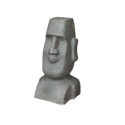 moai en fiber clay h.51cm gris