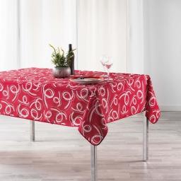 Nappe anti tache 150 x 300 cm imprime revea Rouge