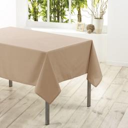 Nappe carree 180 x 180 cm polyester uni essentiel Lin